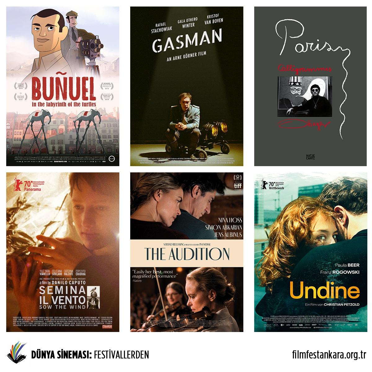 Dünya sinemasından ödüllü filmler ilk kez Ankara'da!