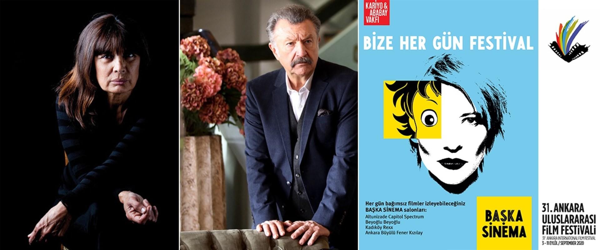 Ankara'nın ödülleri Şerif Sezer, Tamer Levent ve Başka Sinema'ya